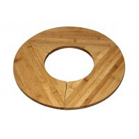 "Support bambou ""Donut"" pour 40 pics  406x180mm H16mm"