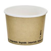 Pot à soupe carton blanc biodégradable 450ml Ø114mm  H80mm