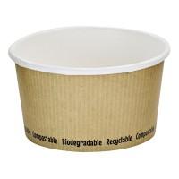 Pot à soupe carton blanc biodégradable 340ml Ø114mm  H63mm