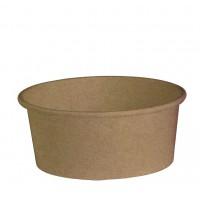 Saladier rond en carton kraft 'Buckaty' 700ml Ø150mm  H60mm