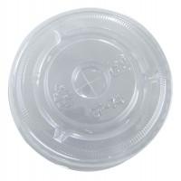 Couvercle PET plat transparent avec croisillon  Ø74mm