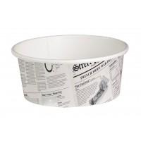 Pot 'Deli' rond en carton décor journal 480ml Ø114mm  H72mm