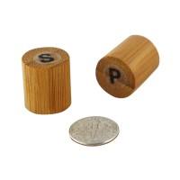 Mini set bambou sel et poivre  18x18mm H40mm