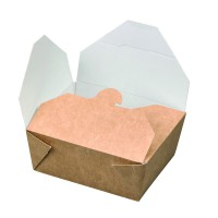 "Boîte repas carton kraft biodégradable ""Nature"" 550ml 110x90mm H50mm"