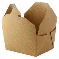 Boîte repas carton kraft laminé 1000ml 215x160mm H50mm