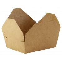 Mini boîte repas carton kraft  115x98mm H35mm