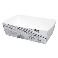 Barquette en carton décor journal 850ml 150x90mm H50mm