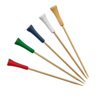 Pic bambou décor golf couleurs assorties    H120mm