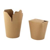 Pot carton rond kraft fermeture à fente 750ml 100x85mm H98mm