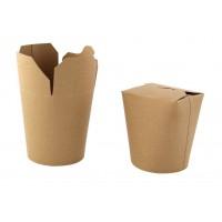 Pot carton rond kraft fermeture à fente 500ml 80x73mm H100mm