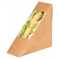 Triangle sandwich kraft simple à fenêtre  52x123mm H123mm