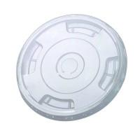 Couvercle PET transparent plat avec trou  Ø85mm