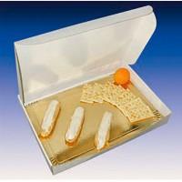 Boîte traiteur lunch carton microcannelé blanc  435x335mm H60mm