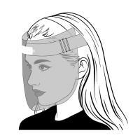 Masque visière PET  398x270mm