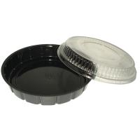 Saladier plastique PS rond noir 600ml Ø210mm  H30mm