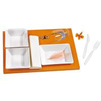 Insert carton orange pour vaisselle 'Scandinavie'  410x270mm H25mm